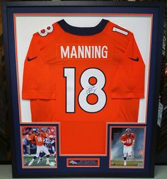 The Sheriff is coming back to town! We're so excited! Custom framed by FastFrame of LoDo. #denver #colorado #broncos #jerseyframing #sportsframing #peytonmanning