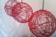 red wedding decoration or in your color!!! super easy and cute. you could put string lights in them