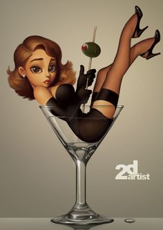 pin up caricature | ... created for 2dartist magazine i will do four pin up tutorials with