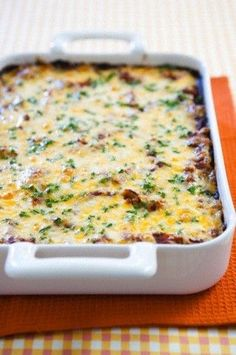 Easy bacon, egg, & cheese casserole -- yum!