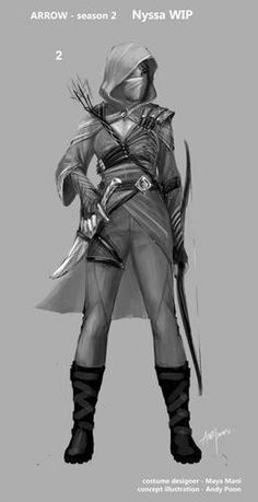 Arrow - Nyssa League of assassins