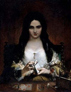 The Wish (also known as The Fortune Teller (1840) by Theodor von Holst