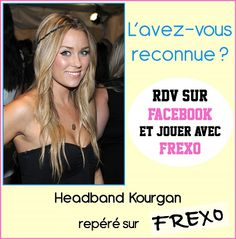 L'avez-vous reconnu ??? Si oui, rejoignez-nous vite sur http://www.facebook.com/frexo.fr pour tenter de gagner ce Headband !!! Vous avez jusqu'à ce soir 17h30 !!!