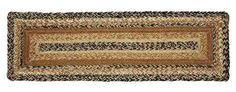 """Add an old country style to your stairs with our Kettle Grove Rectangle Braided Stair Tread 8.5x27""""! https://www.primitivestarquiltshop.com/products/kettle-grove-rectangle-braided-stair-tread-8-5x27 #primitivecountryrugs"""