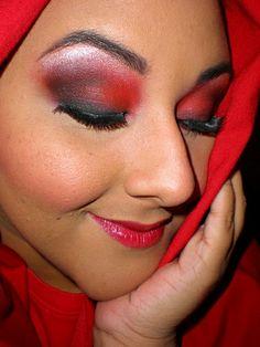 red riding hood makeup | Halloween | Pinterest | Red riding hood ...