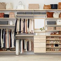 Elfa Closet, Closet Shelves, Master Closet, Closet Bedroom, Closet Storage, Closet Organization, Organization Ideas, Walking Closet, No Closet Solutions