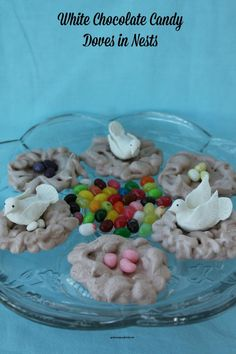 White Chocolate Candy Doves with Tutorial
