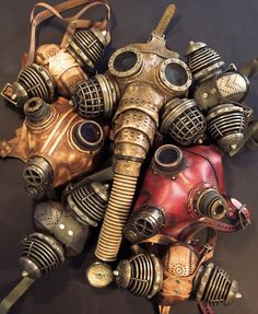 Collage of steampunk masks