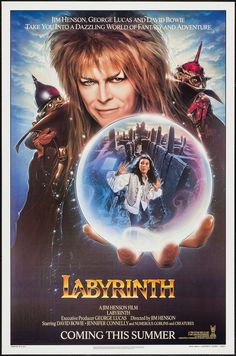 Labyrinth - movie poster - Very Fine+ (8.5)