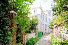 Paris : Rue et Villa Hallé, sérénité champêtre du village d'Orléans - XIVème   Paris la douce