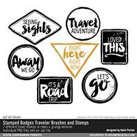 Stamped Badges Traveler Brushes and Stamps