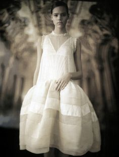 Freja Beha Erichsen wearing Balenciaga Spring/Summer 2006 by Paolo Roversi for Vogue Italia April 2006