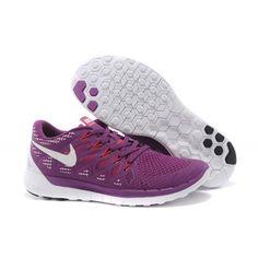 Lightweight Nike Free 5.0 Women's Running Shoe Purple White