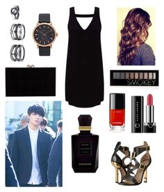 """""""Casually dressy look Jungkook"""" by bts-outfit-imagines on Polyvore featuring Miss Selfridge, Versace, Marc Jacobs, Forever 21, Chanel, Lulu*s, Charlotte Olympia and Keiko Mecheri"""