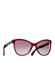 3d10a57e465f01 BUTTERFLY SUNGLASSES, acetate   metal-dark red - CHANEL Lunette Papillon,  Lunettes De