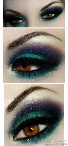 Not sure i could pull this off. Worth a try...  But it's amazing for brown eyes, like mine... =p