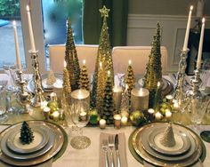 Gorgeous Holiday Table Setting