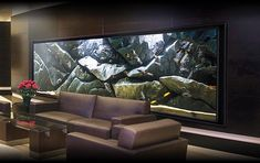 A massive rocky background for Tanganyika (Tropheus) tank in the hotel lobby Biotope Aquarium, Wall Aquarium, Cichlid Aquarium, Home Aquarium, Aquarium Design, Aquarium Fish Tank, Planted Aquarium, Fish Aquarium Decorations, Fish Tank Design
