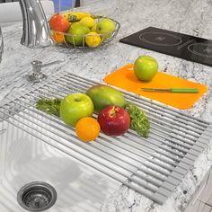 Warm Grey Roll-up Dish Drying Rack (Roll-Up Dish Drying Rack) (Wood)