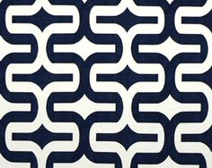 Premier Prints Embrace Premier Navy on White Slub - Fabric by the Yard - Home Decorating Fabric via Etsy. Curtains or chairs. Office Curtains, Black Office, Premier Prints, Black And White Fabric, Crib Skirts, Fabric Decor, Black House, Pattern Design, Print Patterns