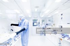 Stock Photo : Scientists using equipment in lab
