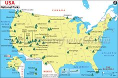 Image result for map of us highlighting National parks