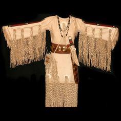 Lakota Sioux Native Dress - Reproduction Native Art, Warshirts, Rifle Sheaths by Chuck Reddick Native American Clothing, Native American Beauty, Native American Beading, Native American History, Native American Indians, American Apparel, Native Indian, Native Art, Sioux