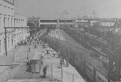 Estação Roosevelt (atual Brás), provavelmente nos anos 1980, em foto da Revista Ferroviária.
