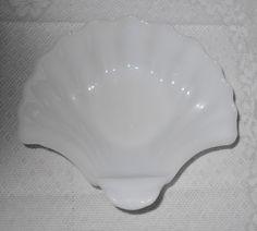 Vintage Milk Glass Shell Soap Dish by RadiogirlCarolyn on Etsy