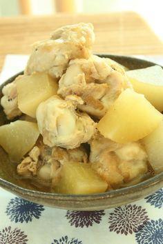 定番♪鶏手羽元と大根の煮もの | 美肌レシピ
