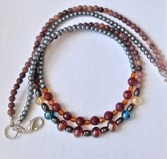 Aventurine and Hematite Necklace  Double Strand by ZhiJewelry
