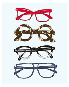 The cutest glasses print. I want everything from illustrator emmakisstina!
