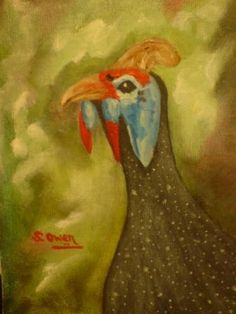 When it comes to animals, guinea-fowls are my favourite to paint. I have painted many over the year's. Check out my other guinea-fowl paintings on this site. Guinea Fowl, Artist Painting, Oil Paintings, Over The Years, Africa, Things To Come, Animals, Animales, Animaux
