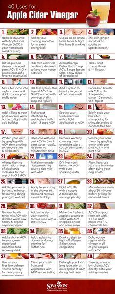40 Ways to Use Apple Cider Vinegar - Favorite Pins