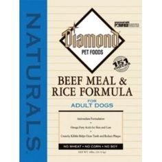 Diamond Naturals Dry Food for Adult Dog, Beef and Rice Formula - we also feed this during the off season