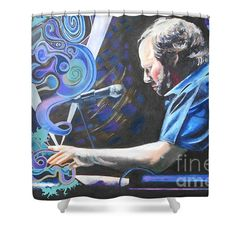 Shower Curtains - The Chairman Shower Curtain by Kevin J Cooper Artwork