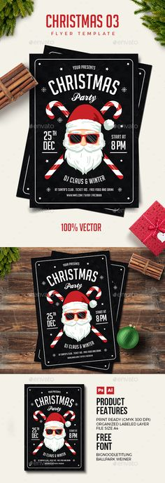 Christmas Flyer Template PSD, AI Illustrator