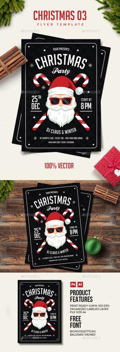 Christmas Flyer Template PSD, AI Illustrator