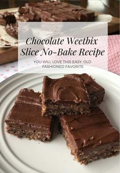 Everyone's Going Mad for this Chocolate Weetbix Slice ~ The WHOot Cooking Chocolate, Chocolate Recipes, Dessert Chocolate, Baking Recipes, Cake Recipes, Dessert Recipes, Weetabix Recipes, Chocolate Weetbix Slice, No Bake Slices