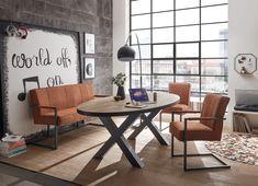 Genießen Sie angenehmen Sitzkomfort auf der Sitzbank Bleuan aus dem Hause vito in Loft optik Loft, Vito, Office Desk, Conference Room, Design, Furniture, Home Decor, Chair Bench, Banquette Bench