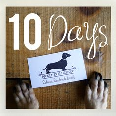 We're holding up ten puppy paw fingers... to let you know that there are only 10 DAYS left to shop for Christmas delivery (within the U.S. only). Order by December 17!
