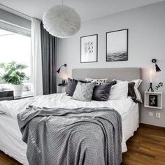 Top 10 Interior Design Bedroom Grey Walls Top 10 Interior Design Bedroom Grey Wa Top 10 Interior Design Bedroom Grey Walls Top 10 Interior Design Bedroom Grey Wa The decoration of the house is like an . Gray Bedroom Walls, Cozy Bedroom, White Bedroom, Grey Walls, Dream Bedroom, Modern Bedroom, Bedroom Ideas, Bedroom Bed, Light Gray Bedroom