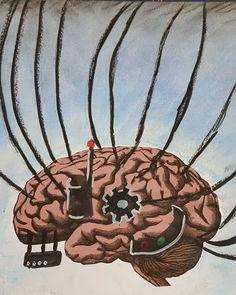 Shared by yegor_b_zh #skynet #skyneteniarazon (o) http://ift.tt/1TQdSpj drawing  #brain #machine #cyborg  #biotechnology #art #drawing #softpastel