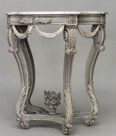 Antique French Regence console table painted: