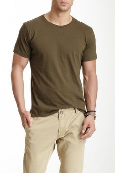 Rogue Short Sleeve Tee in Olive army green