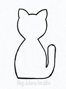 Cat face pattern. Use the printable outline for crafts