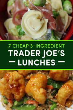 These Three-Ingredient Trader Joe's Lunches Trader Joes Food, Trader Joe's, Trader Joe Snacks, Clean Eating Snacks, Healthy Eating, Clean Lunches, Work Lunches, Healthy Lunches, Healthy Dinners