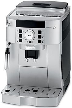 Enjoy a bold espresso, long coffee or creamy cappuccino, just the way you like it. The compact Magnifica XS boasts the advanced features of DeLonghi's super-automatic espresso machines with a smaller footprint. DeLonghi's Rapid Cappuccino System p… Cappuccino Maker, Espresso Maker, Coffee Maker, Cappuccino Coffee, Barista, Espresso Machine Reviews, Automatic Espresso Machine, Nespresso Machine, Italian Coffee
