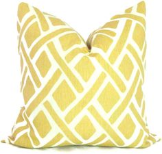 Kravet Yellow Trellis Decorative Pillow Cover 18x18, 20x20, 22x22 or lumbar pillow - Throw Pillow - Accent Pillow - Toss Pillow