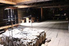 Hearth in the viking Longhouse #viking #slavic #pagan #fire